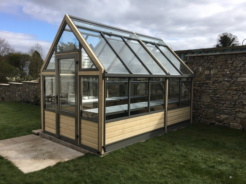 8X12 Greenhouse with boarded base