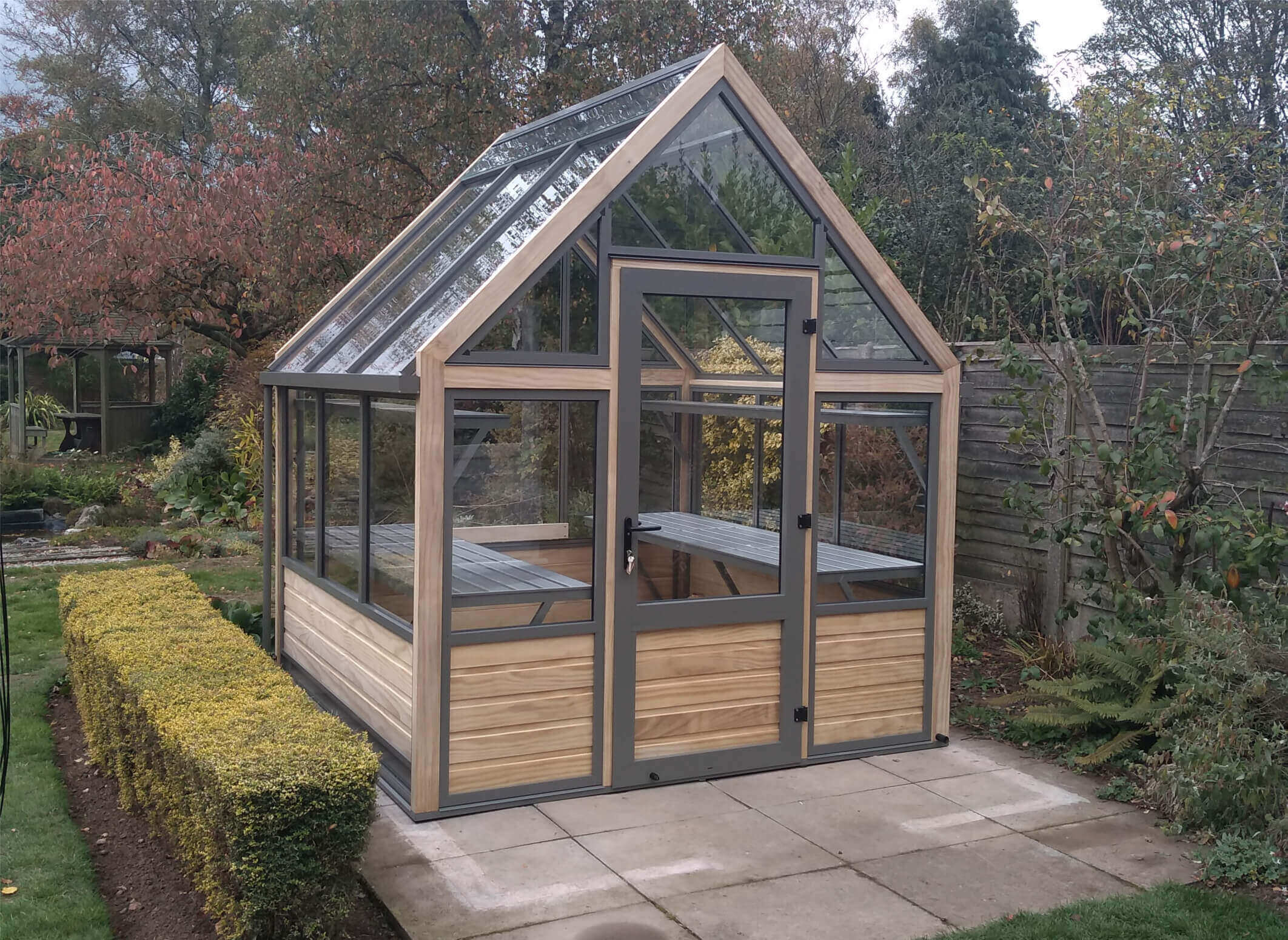 Eight by Eight foot wooden Greenhouse