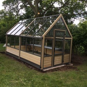 eight by sixteen foot wooden greenhouse