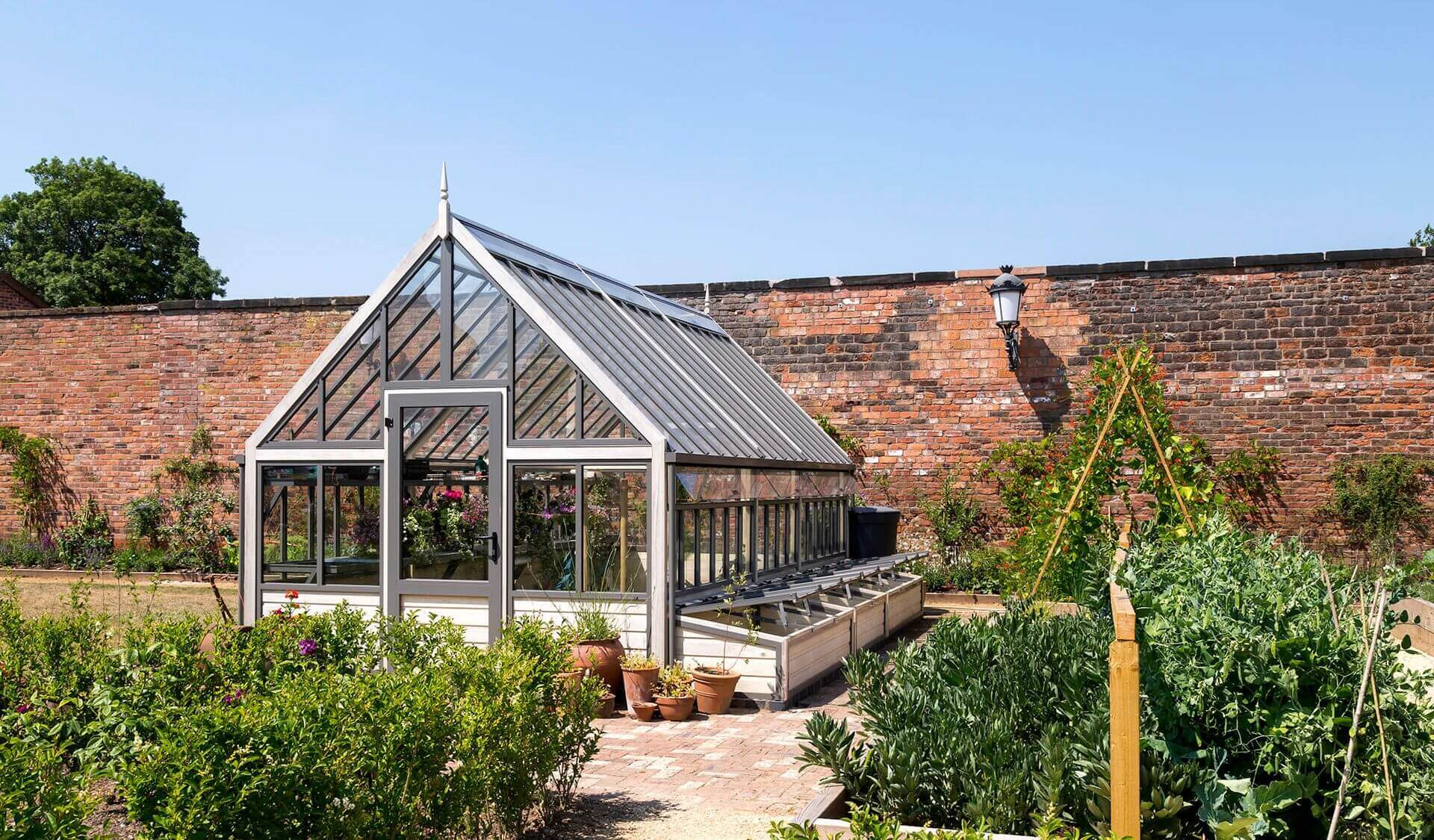 Large Greenhouse inside a Victorian Walled Garden