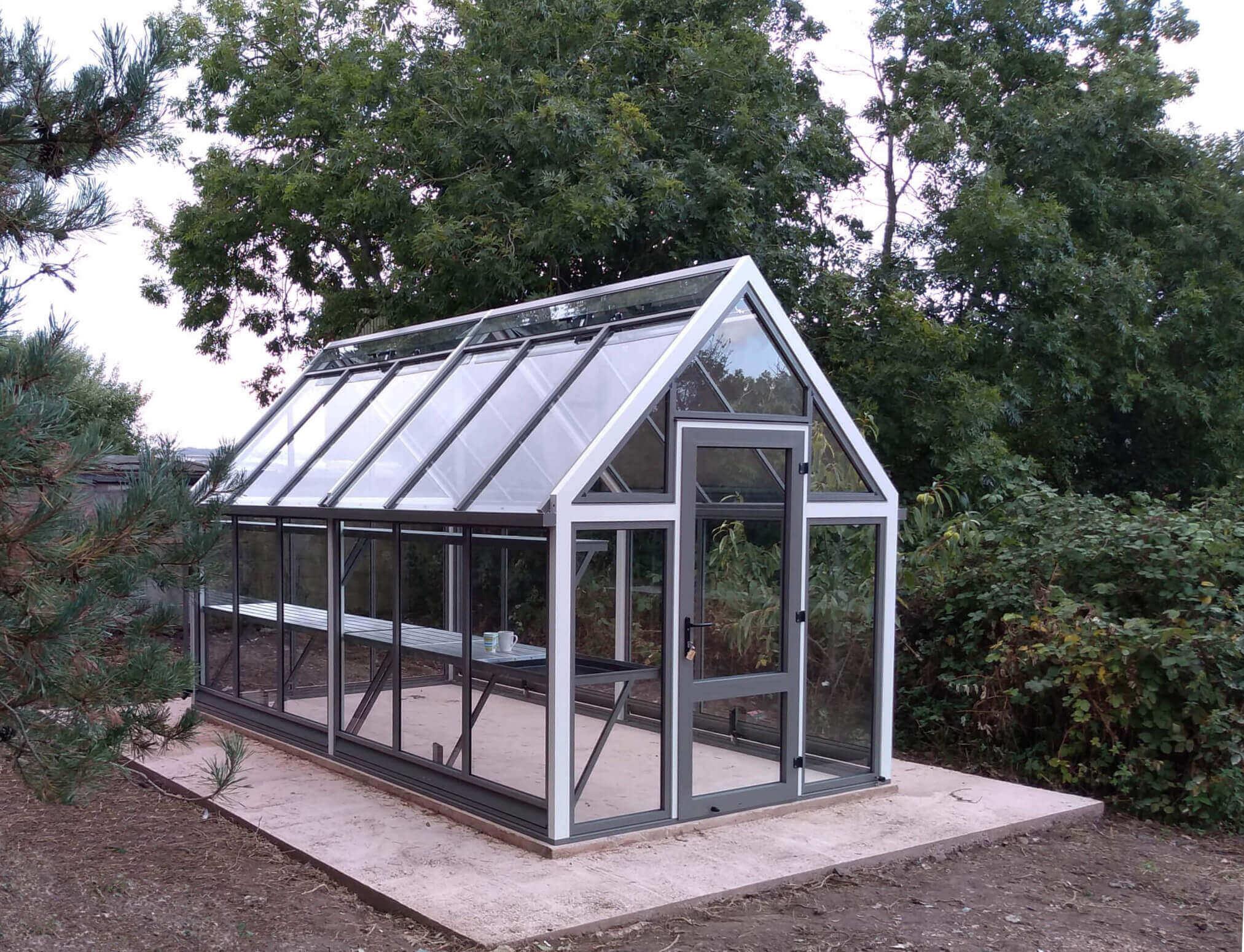 A large Aluminium Greenhouse