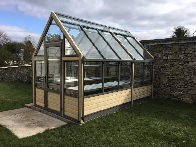 a modern greenhouse