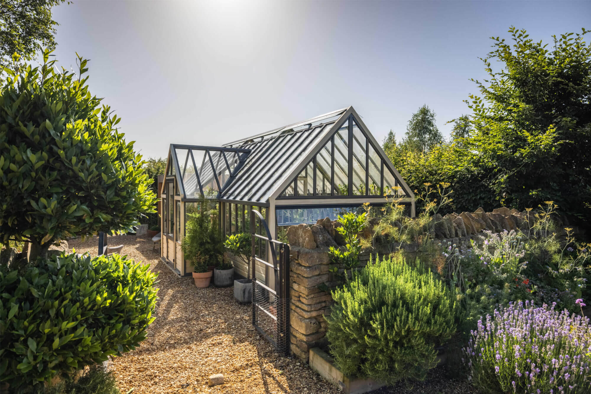 accoya wooden greenhouse with porch