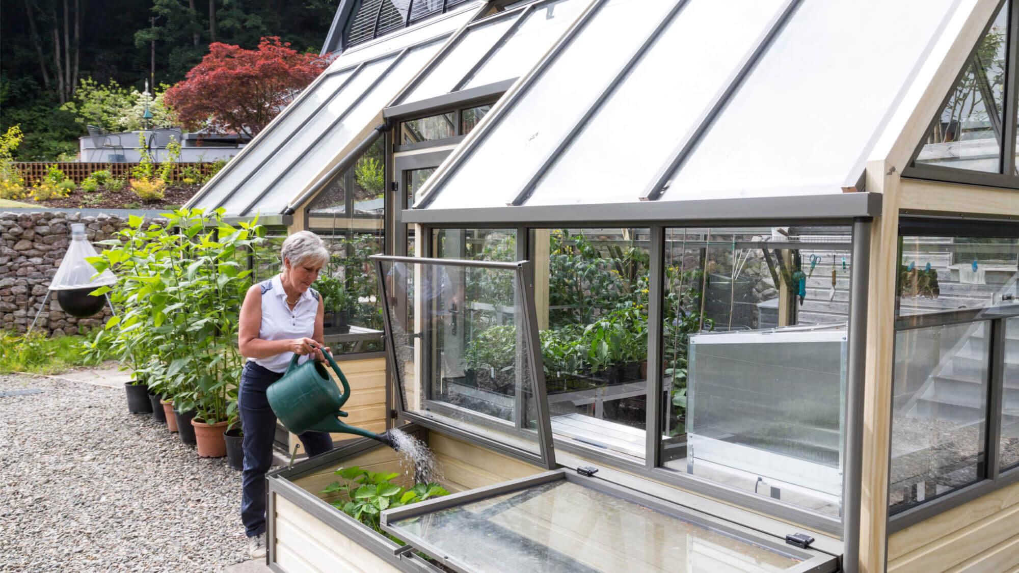alternative greenhouse with coldframe