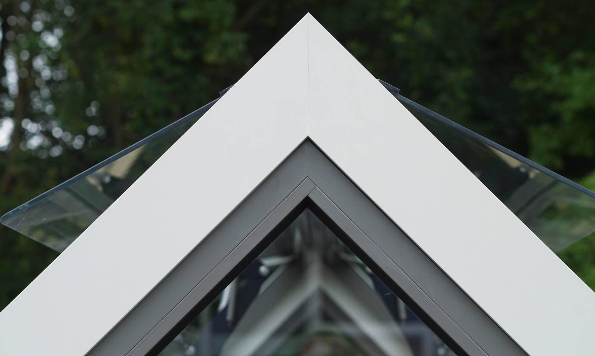 Small Alumium Greenhouse close up