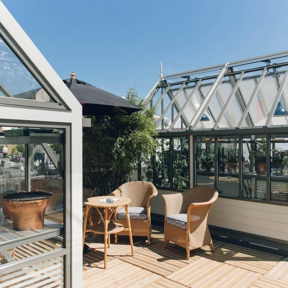 aluminium greenhouse range