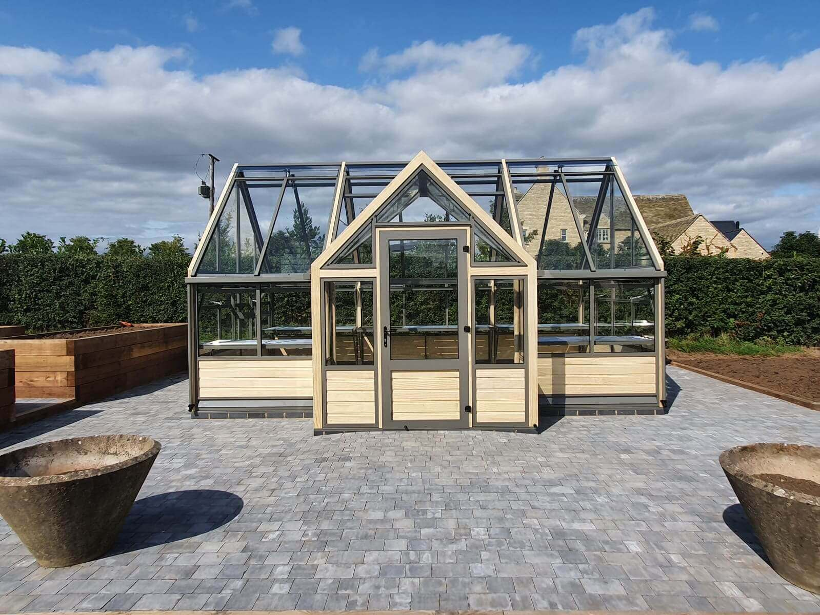 Modern porch greenhouse