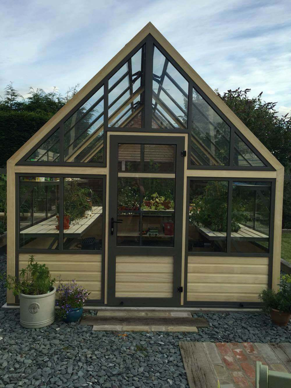10 foot wide wooden greenhouse