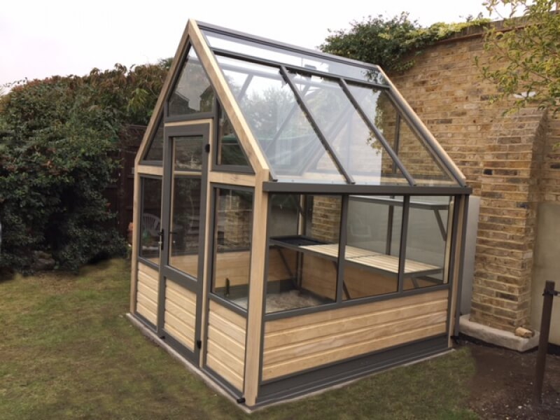 Eight foot wide greenhouse by eight foot long