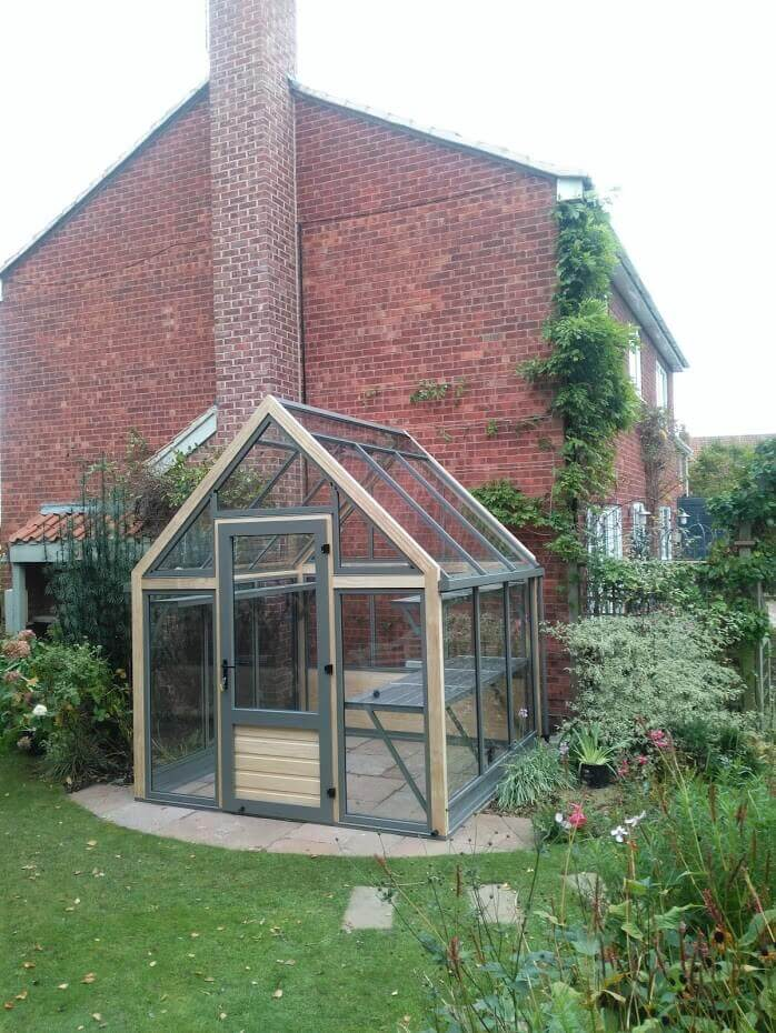 Greenhouse near House