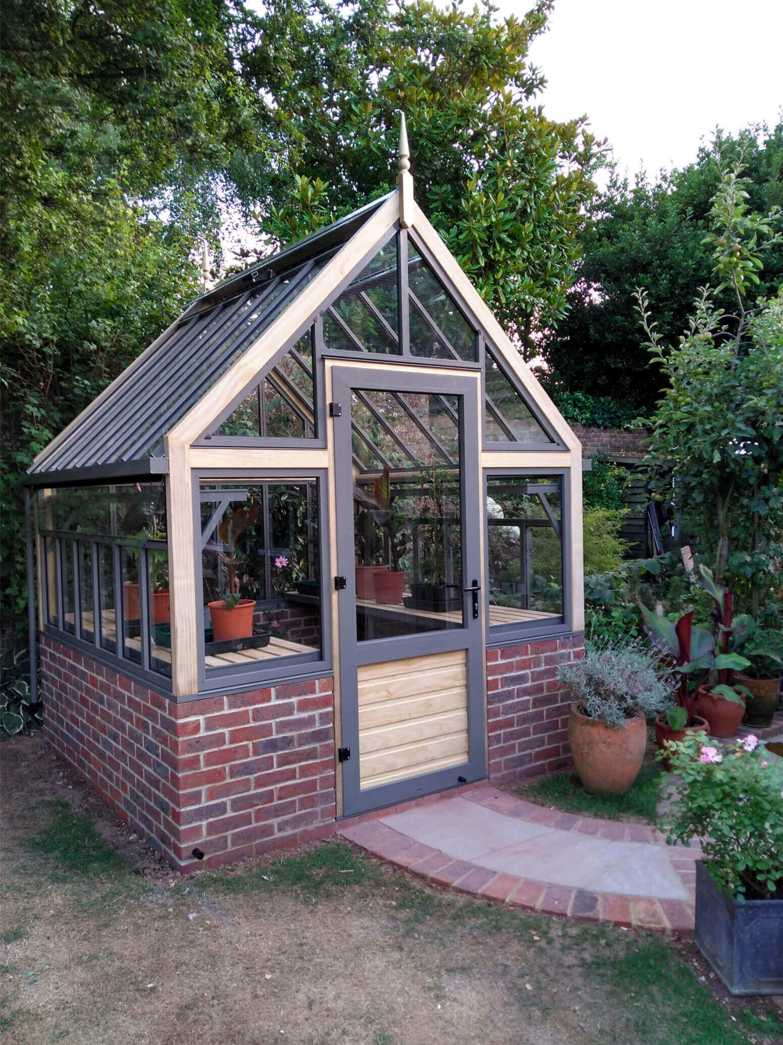 Victorian greenhouse, greenhouse on wall