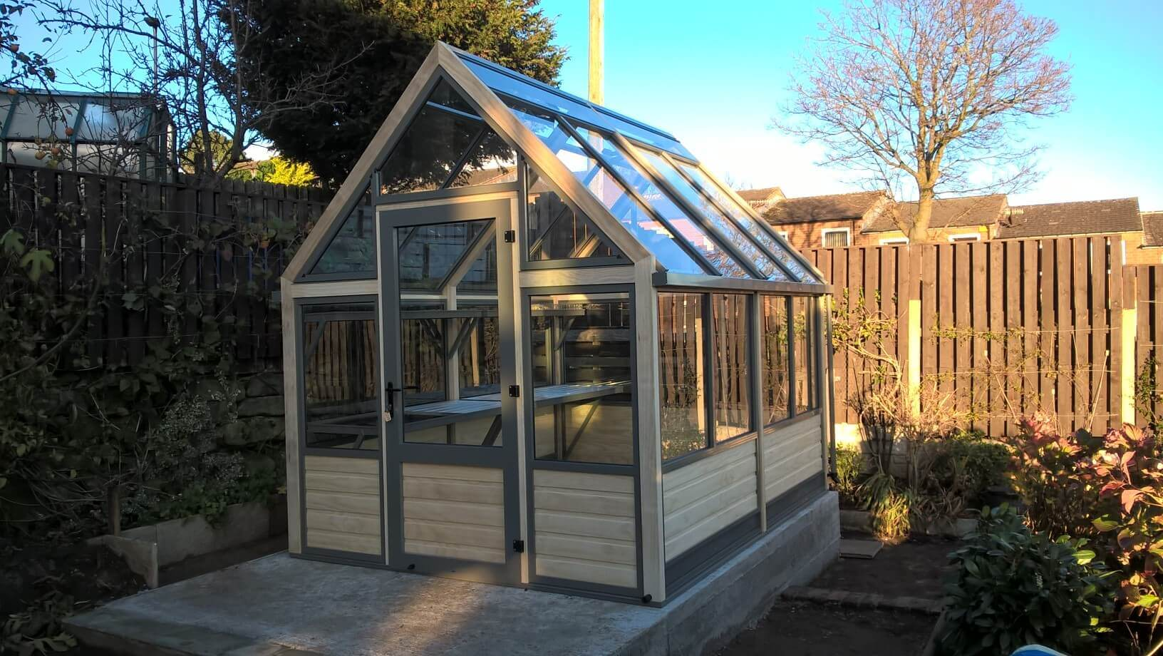 Greenhouse on sloping site