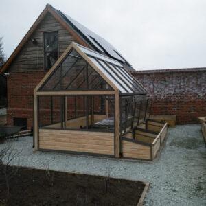 kitchen garden greenhouse