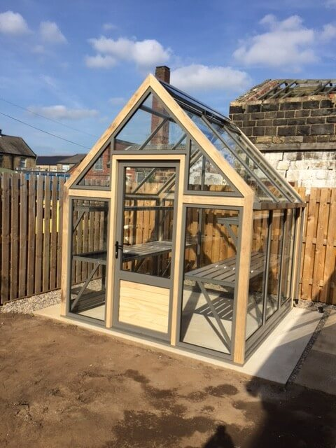 Greenhouse with an open in Door