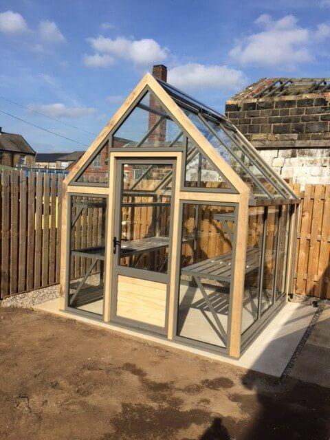 Greenhouse with an open in Door