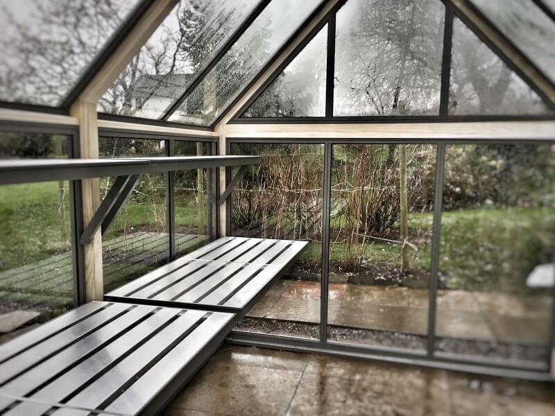 8 x 10 greenhouse from door end