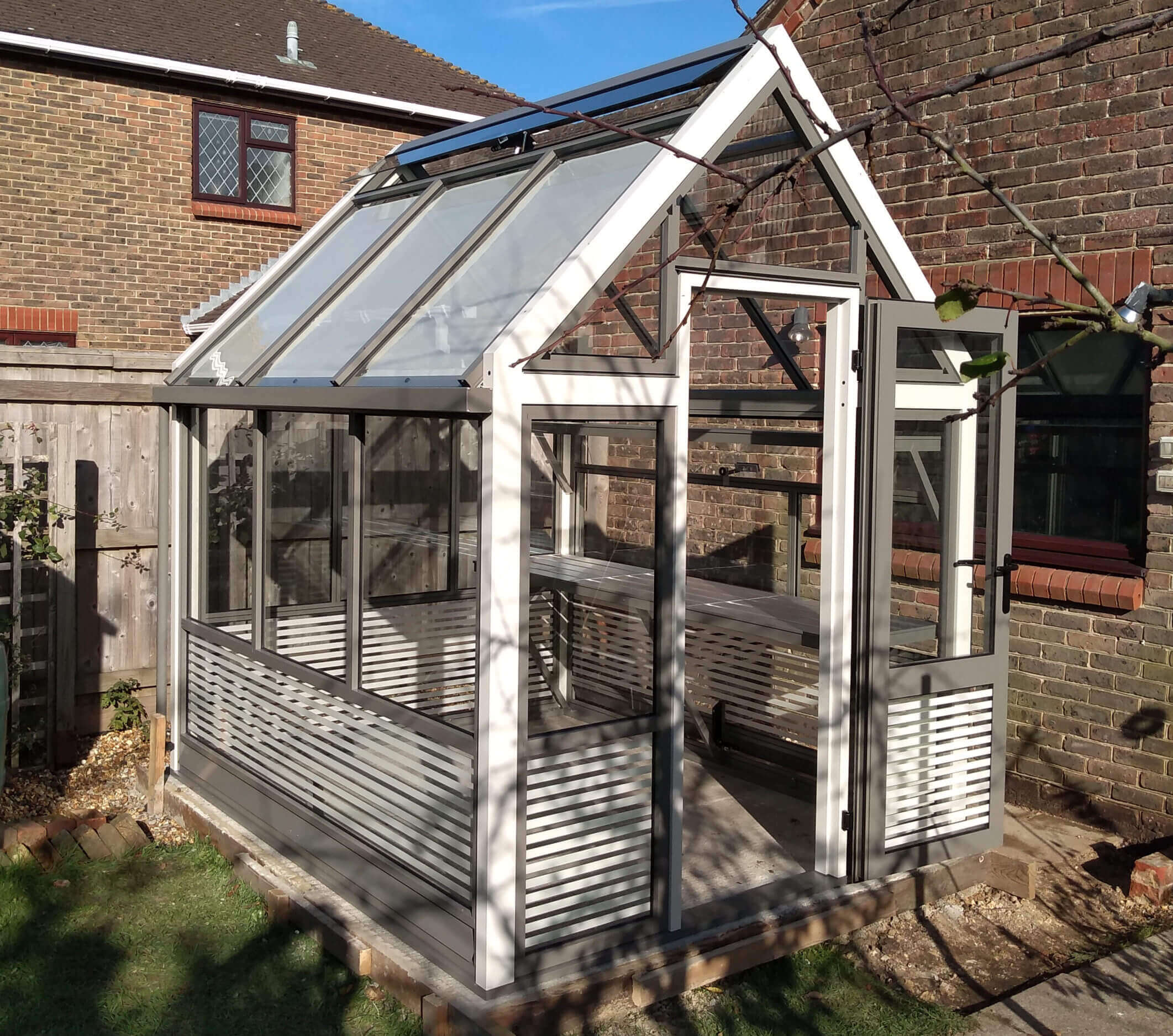 Attractive aluminium greenhouses