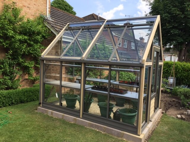 Luxury 8 x 10 greenhouse