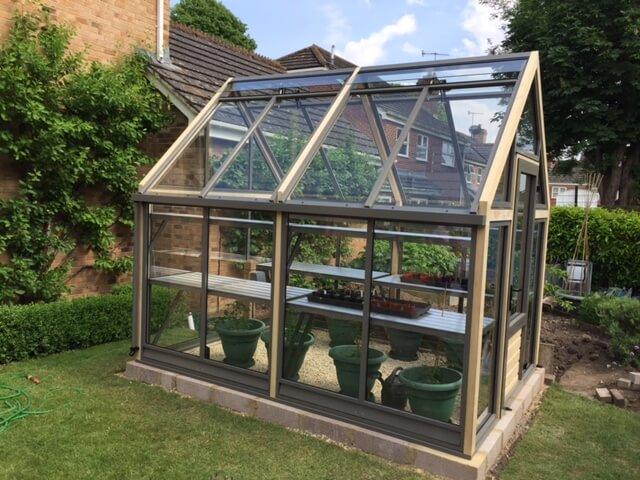 Luxury 8 x 10 greenhouse