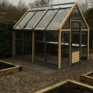 greenhouse, raised beds