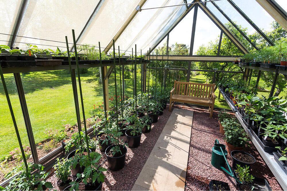 Productive greenhouse set-up