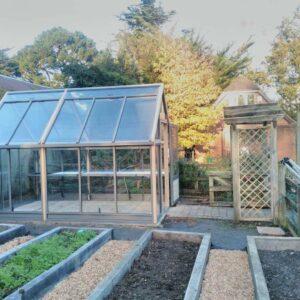kitchen garden,greenhouse