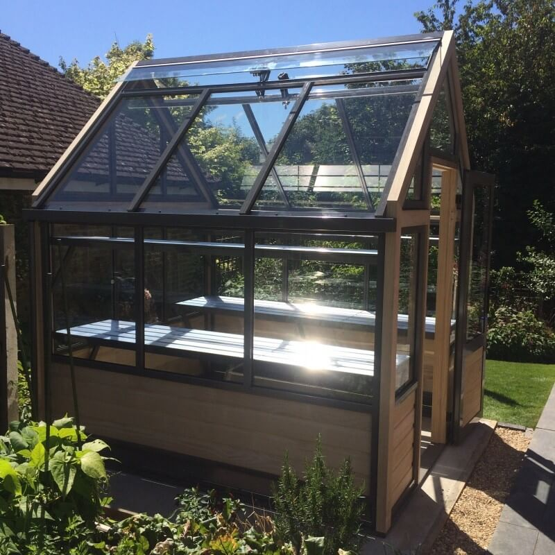 greenhouse with staging