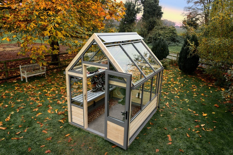 6 x 8 greenhouse in garden