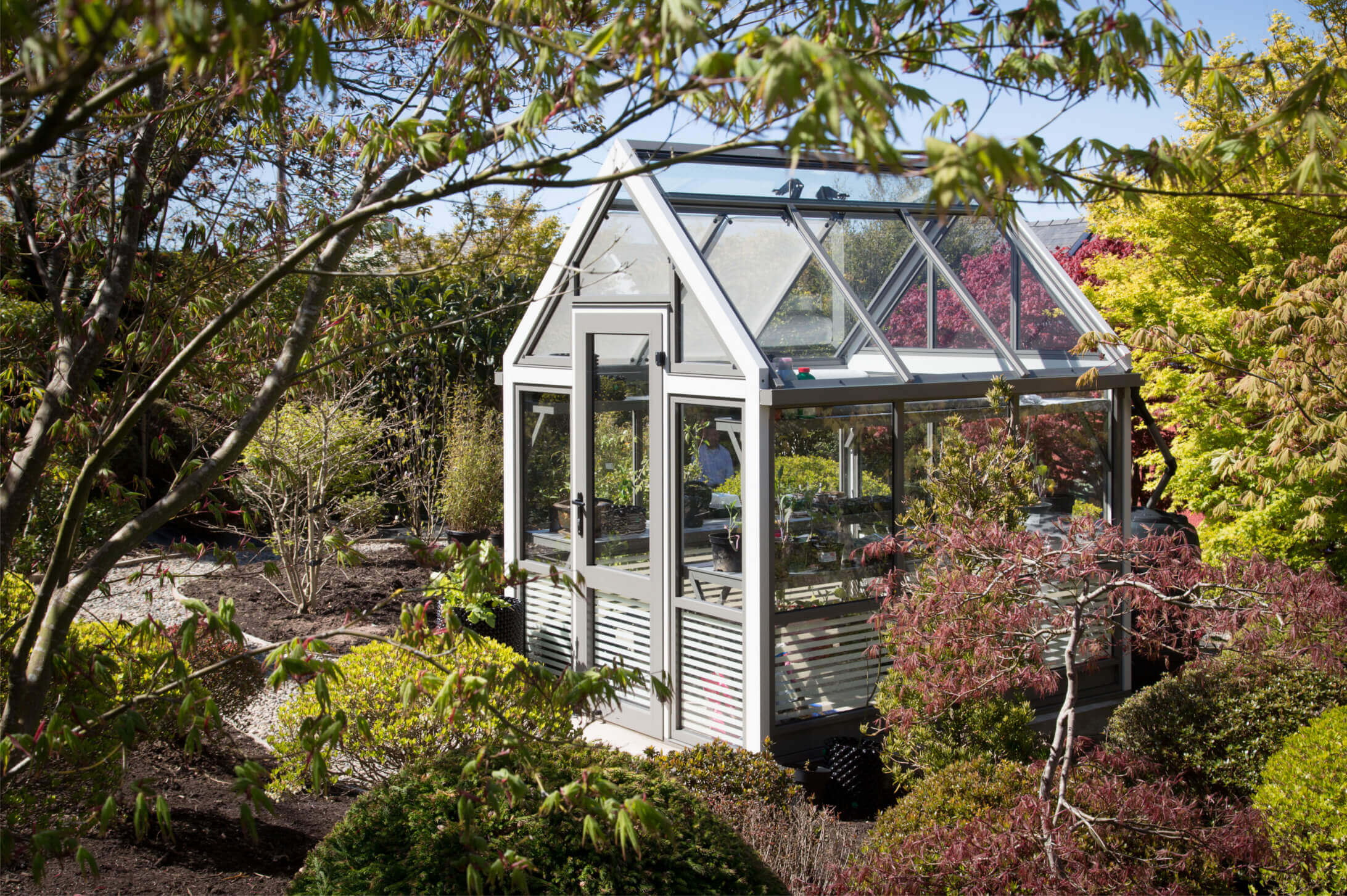 Contemporary aluminium greenhouse