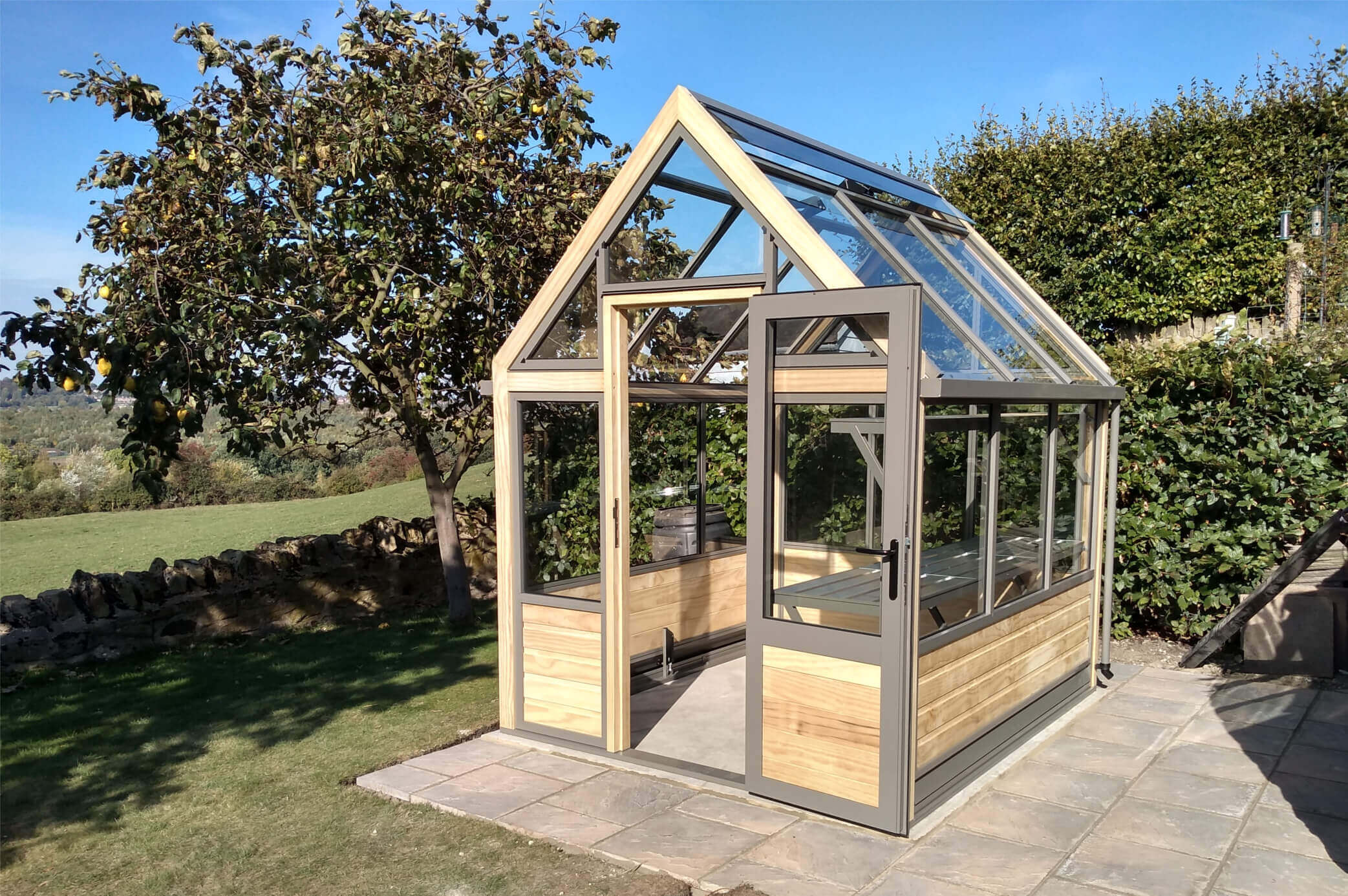 Smart wooden greenhouse