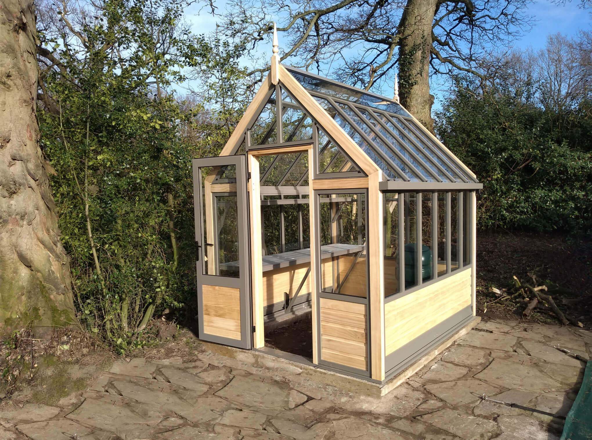 Small Victorian Wooden Greenhouse