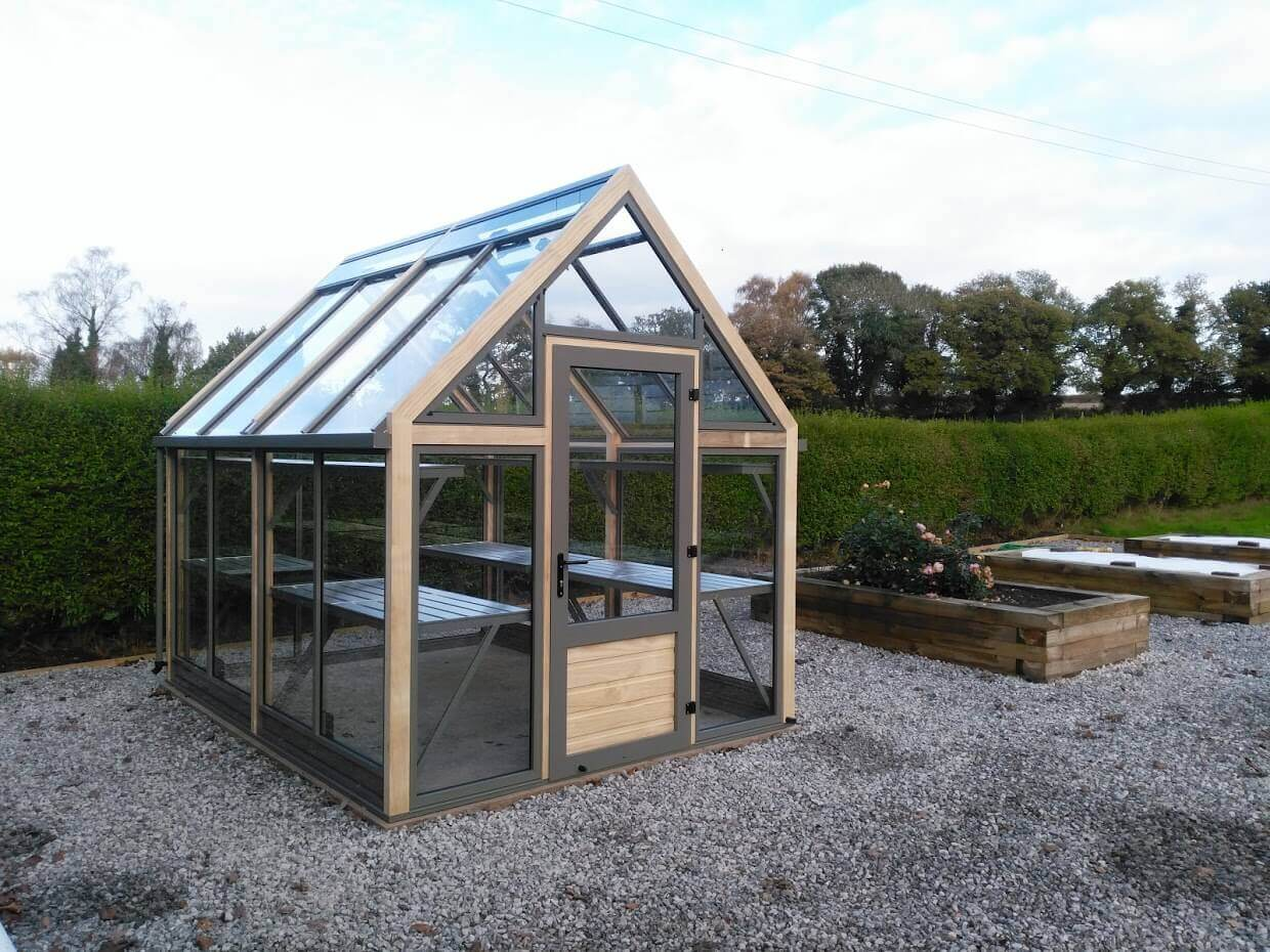 Greenhouse in Gravel Garden