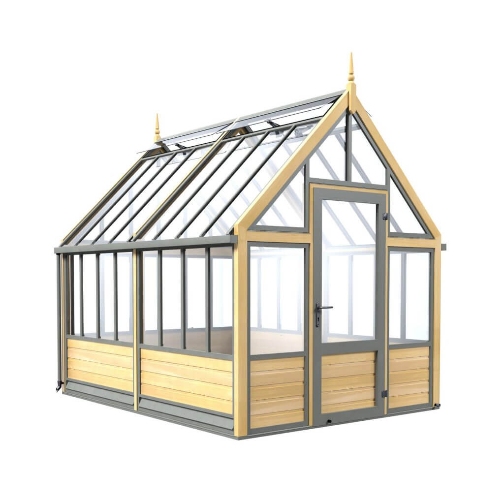 traditional wooden greenhouse