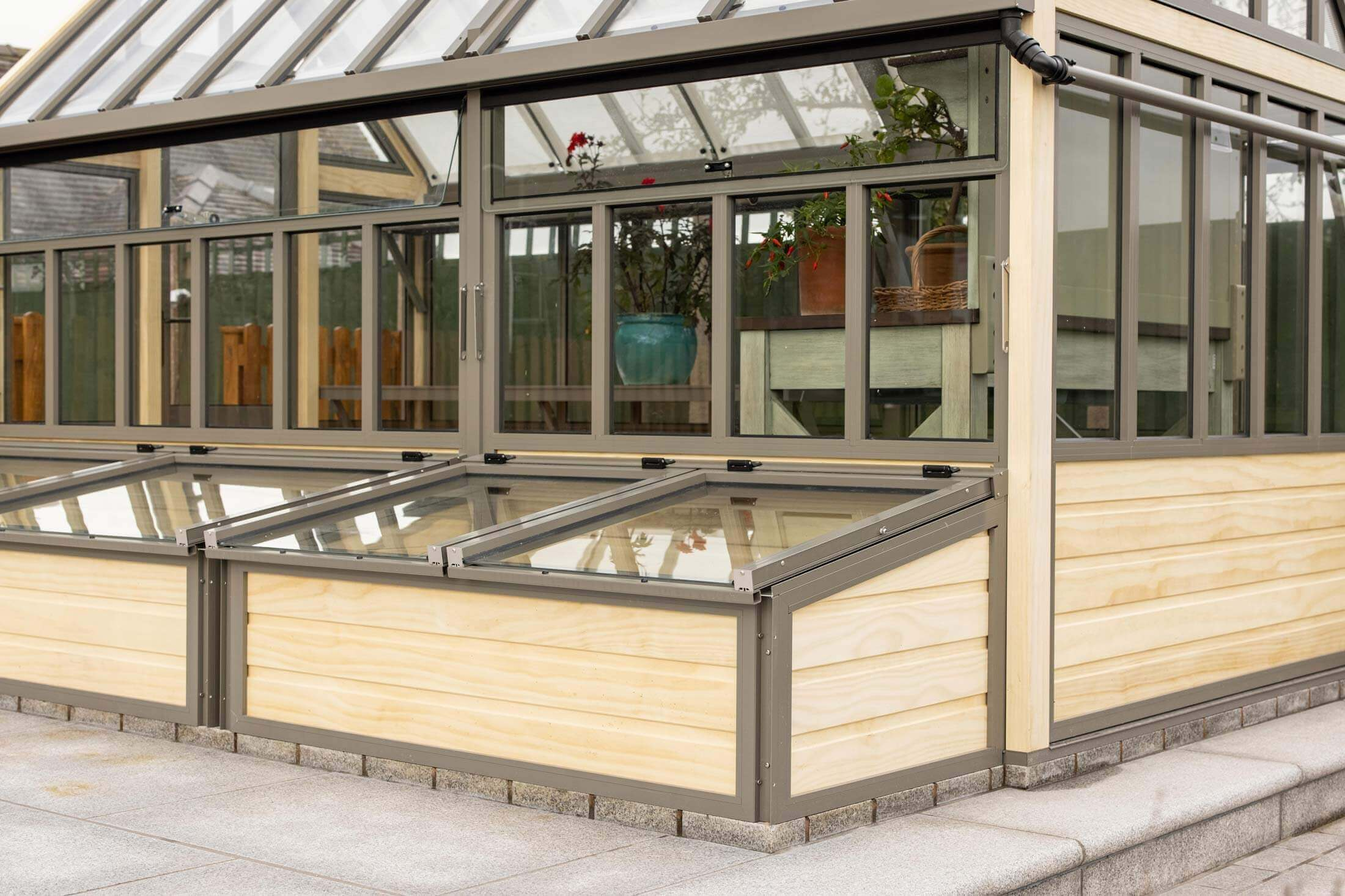 Victorian greenhouse with coldframe